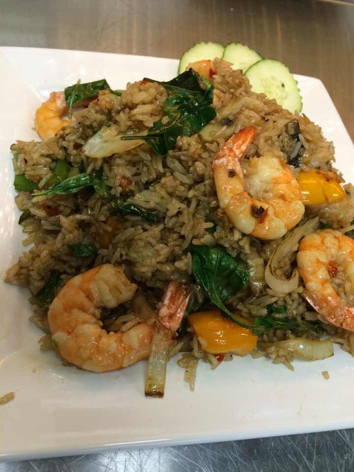 Spicy Basil Shrimps Fried Rice